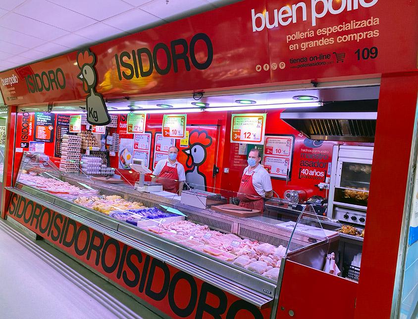 Pollería Isidoro en Mercado de Ventas de Madrid