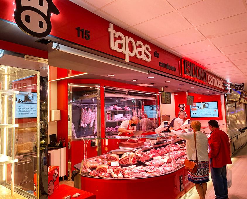 Tapas en la Carnicería en Mercado de Ventas de Madrid