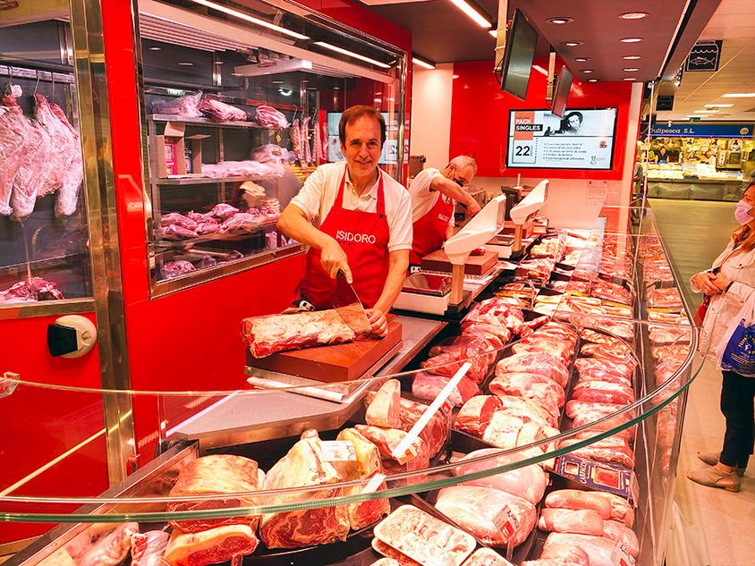 Carnicería en Mercado de Ventas de Madrid